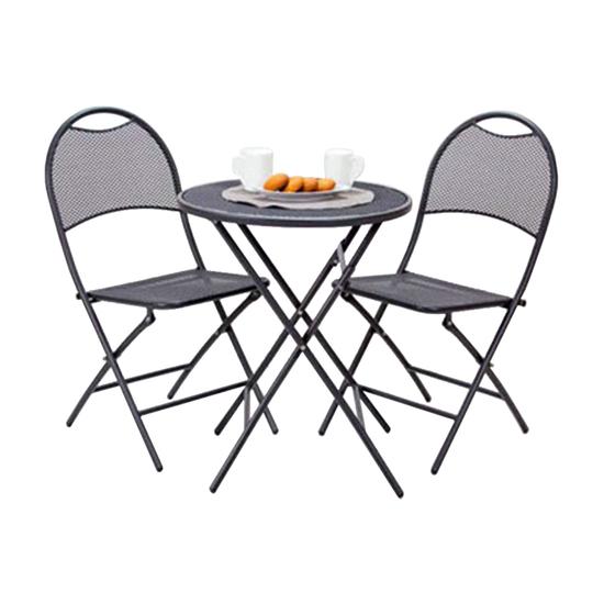 Balkon set sto + 2 stolice 051196, Metal