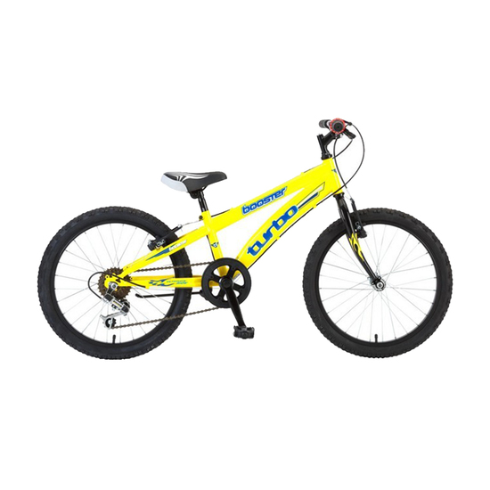 Bicikl Booster Turbo 20 Girl BIC-0110-Y Yellow, Žuti, Za decu