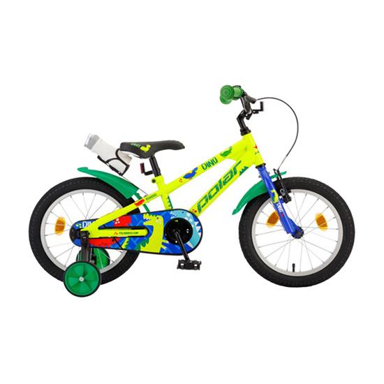 Bicikl Polar Junior 16 Dino Green B162S01200, Zelena / žuta / plava, Za decu