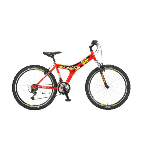 Bicikl Polar Tornado 26 Red BIC-2226-R, Crveni