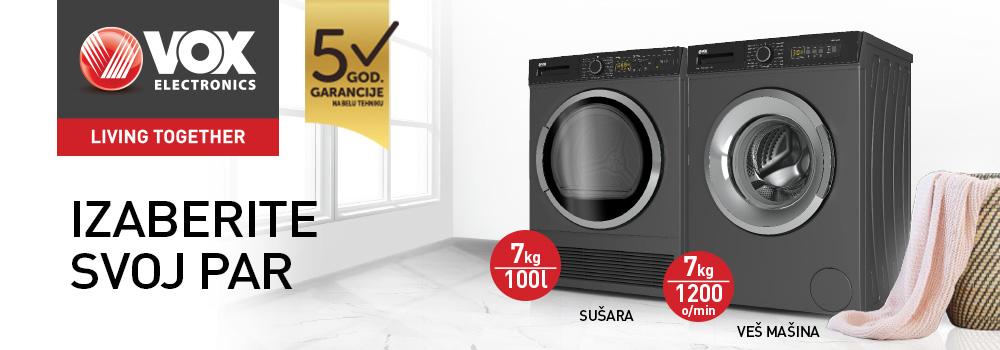 Vox mašine za pranje i sušenje veša