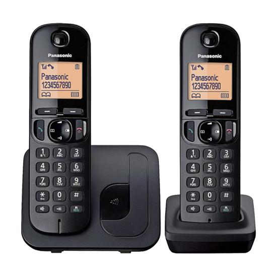Fiksni telefon Panasonic KX-TGC212FXB, Bežični, Crna