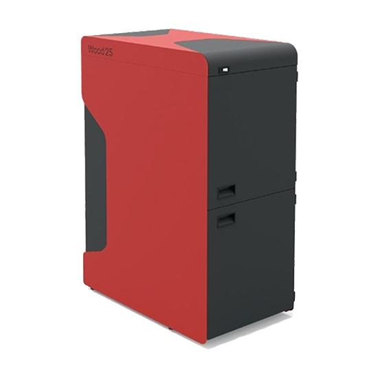 Kotao Alfa Plam WOOD 25, Crna / crvena, 25 kW