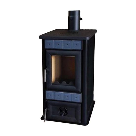 Peć na čvrsto gorivo Alfa Plam Lara Antracit S-4785, Crna, 8KW