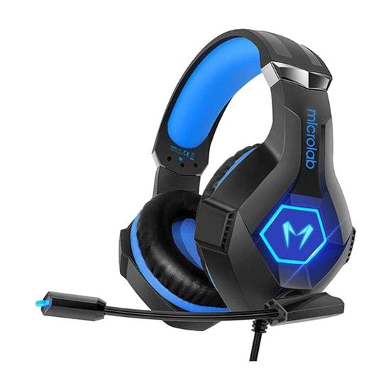 Slušalice Microlab G7 Gaming, Crna / Plava, LED