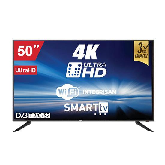 Televizor LED Vox 50ADS314B, 50''(127 cm), 3840 x 2160 Ultra HD 4K, Smart